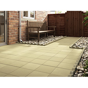 Marshalls Richmond Smooth Buff 450 x 450 x 32 mm Paving Slab