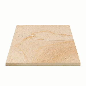 Marshalls Sawn Versuro Smooth Golden Sand Paving Slab 275 x 275 x 22 mm - 7.56m2 pack