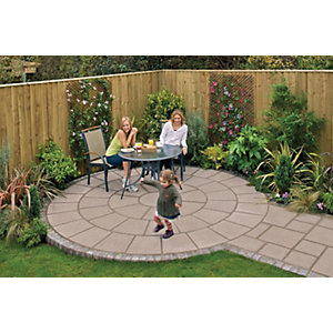 Marshalls Saxon Textured Mocha Paving Slab 600 x 600 x 35 mm - 10.8m2 pack