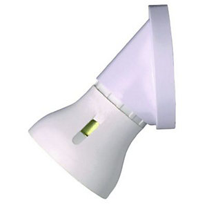 MK Angled Batten Lamp holder - White