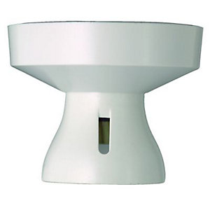 MK Straight Batten Lamp holder - White
