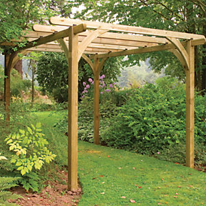Forest Garden Ultima Timber Pergola Kit - 2.7 x 2.7m