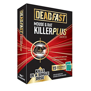 Deadfast Mouse and Rat Killer - 15 Sachets