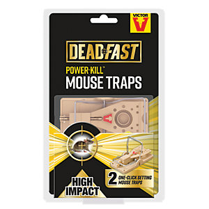 Deadfast Power Kill Mouse Trap - Twin Pack