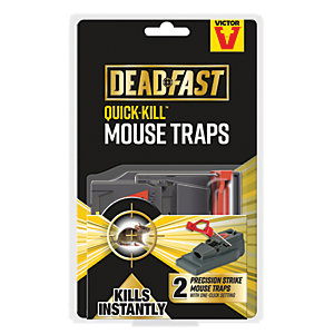 Deadfast Quick Kill Mouse Trap - Twin Pack