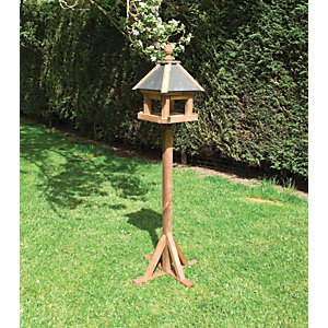 Rowlinson Premium Timber Laverton Bird Table - 2 x 2 ft