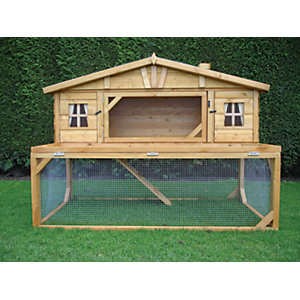 Shire Timber Apex Chicken Mansion House Coop & Run - 5 x 3 ft
