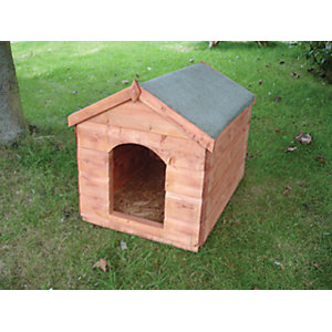 Shire Timber Apex Large Sark Kennel Honey Brown - 4 x 2 ft