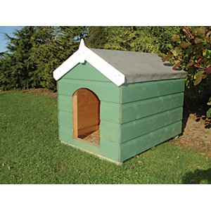 Shire Timber Apex Small Sark Kennel Honey Brown - 3 x 2 ft