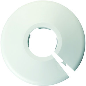 Wickes White Pipe Collars - 22mm Pack of 5