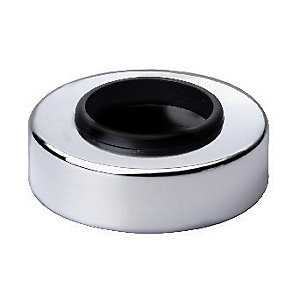 Wickes Chrome Finish Pipe Collar - 40mm