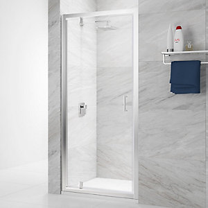 Nexa By Merlyn 6mm Pivot Chrome Framed Shower Door Only - 900mm