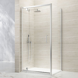 Nexa By Merlyn 8mm Chrome Framed Pivot Shower Door Only - 760mm