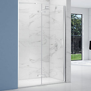 Nexa By Merlyn 8mm Frameless Inline Hinge Chrome Panel Door For Side Panel Only - 1000mm