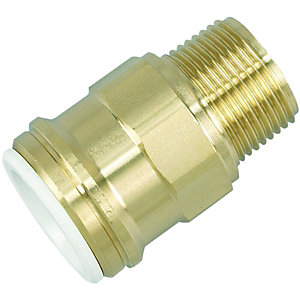 John Guest Speedfit 22MC(3/4)P Cylinder Connector Male - Brass 19 x 22mm
