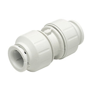 John Guest Speedfit PEM0422WP Straight Coupler - 22mm