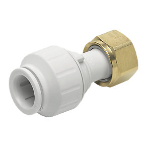 John Guest Speedfit PEMSTC1014P Straight Tap Connector - 10mm x 1/2in