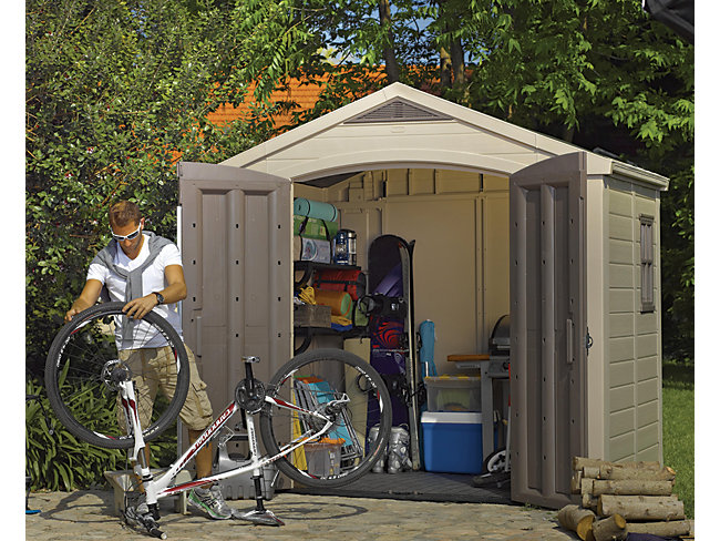 Keter Plastic Apex Shed  - 8 X 6 Ft