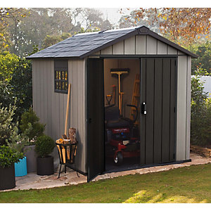 Keter Oakland Plastic Shed 7x9 Best Price, Cheapest Prices