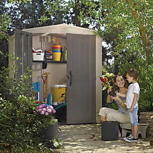 Keter Plastic Factor Shed - 6 x 6 ft Best Price, Cheapest Prices