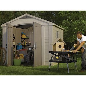 Keter Plastic Factor Shed - 8 x 11 ft Best Price, Cheapest Prices