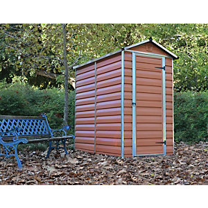 Palram Skylight Amber Shed - 4 x 6 ft Best Price, Cheapest Prices
