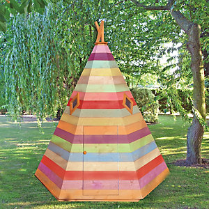 Shire Wooden Wigwam Children's Playhouse - 6 x 6 ft