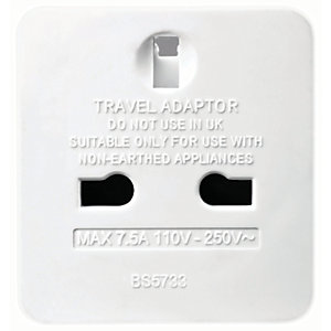 Masterplug UK to Europe Travel Plug Adaptor - Pack of 2