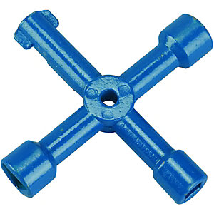 Wickes Blue 4 Way Utility Key