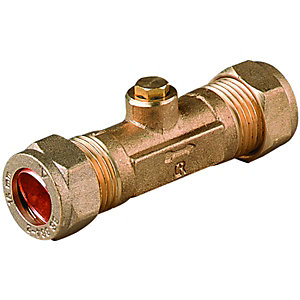 Wickes Brass Double Check Valve - 15mm