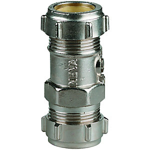 Wickes Nickel Finsh Straight Service Valve - 22mm