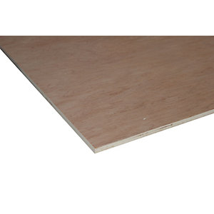 Wickes Non Structural Hardwood Plywood - 12mm x 606mm x 1220mm
