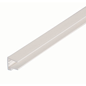 10mm PVC Sheet Closure - White 2.1m