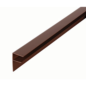 16mm PVC Side Flashing - Brown 4m