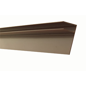25mm PVC Side Flashing - Brown 4m
