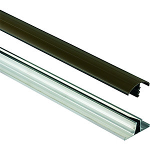 Wickes Universal Glazing Bar for Polycarbonate Sheets - Brown 4m