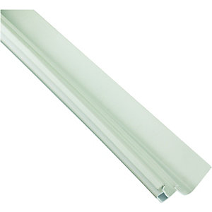 Wickes White Universal Edge Flashing for Polycarbonate Sheets - 4m