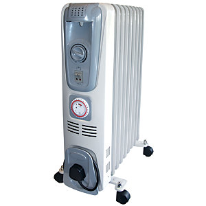 Rhino 2kW Oil Filled Radiator with Timer