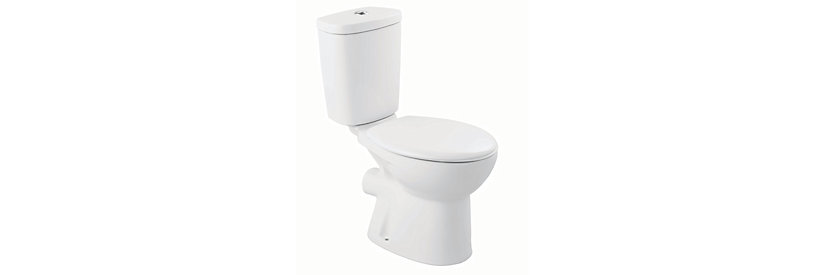 Portland Toilet Pan, Close Coupled Cistern & Seat