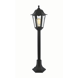 Coast Bianca Black Tall Post Light - 60W E27