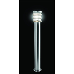 Wickes Eton Brushed Chrome Tall Post Light - 60W
