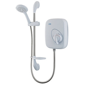 Triton Manual Power Shower Kit - White