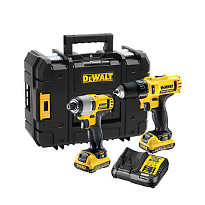 DEWALT DCK218D2T-GB 10.8V XR Cordless Combi Drill And Impact Driver Twin Pack