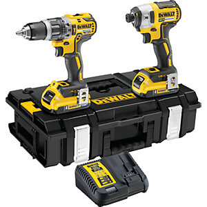 DEWALT DCK266D2T-GB 18V 2x2.0Ah Brushless Drill Set