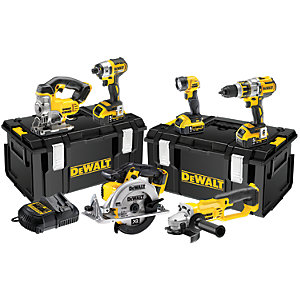 DEWALT DCK694P3-GB 18V Cordless Brushless 6 Piece Set with 3 x 5.0Ah Batteries