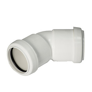 FloPlast WP19W Push-Fit Waste 135 Deg Bend - White 40mm