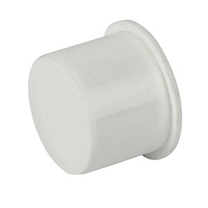 FloPlast WP31W Push-Fit Waste Socket Plug - White 40mm