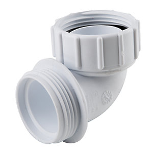 Osma HepVO CV11 Waterless Waste Knuckle Adaptor White - 40mm