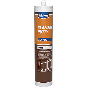 Wickes Glaziers Acrylic Putty - White 310ml