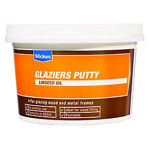 Wickes Glaziers Linseed Oil Putty - Natural 1kg